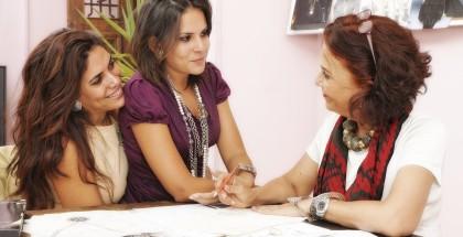 Managing Director Fatma Ghaly & Designers Azza Fahmy & Amina Ghali. Photo Courtesy of Azza Fahmy