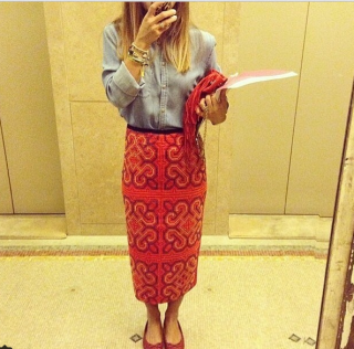 The Tribal Pencil Skirt by All Things Moschi